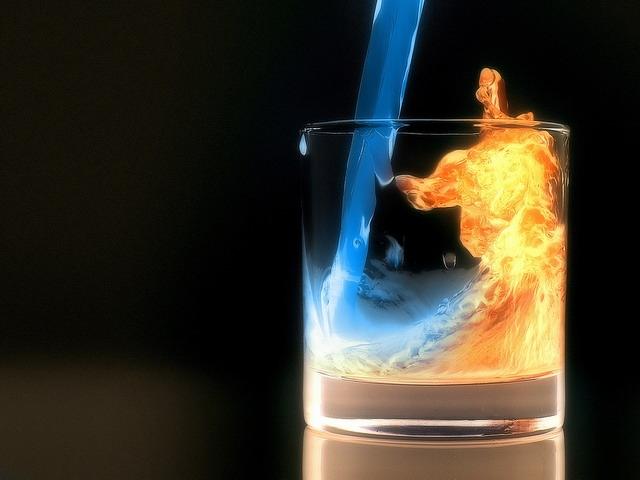 حوار الماء النار..