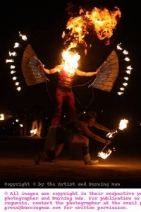Poi session at burning man