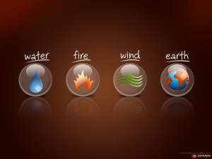 each element has a type of outgoing energy